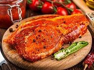 Марината за свински пържоли от котлет на скара или фурна